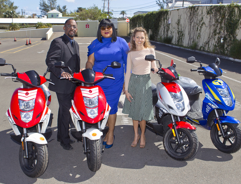 12 Motor Bikes Donated To Project RIDE Bermuda March 4 2016