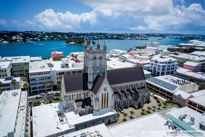 Bermuda Aerial media Cathedral Bermuda