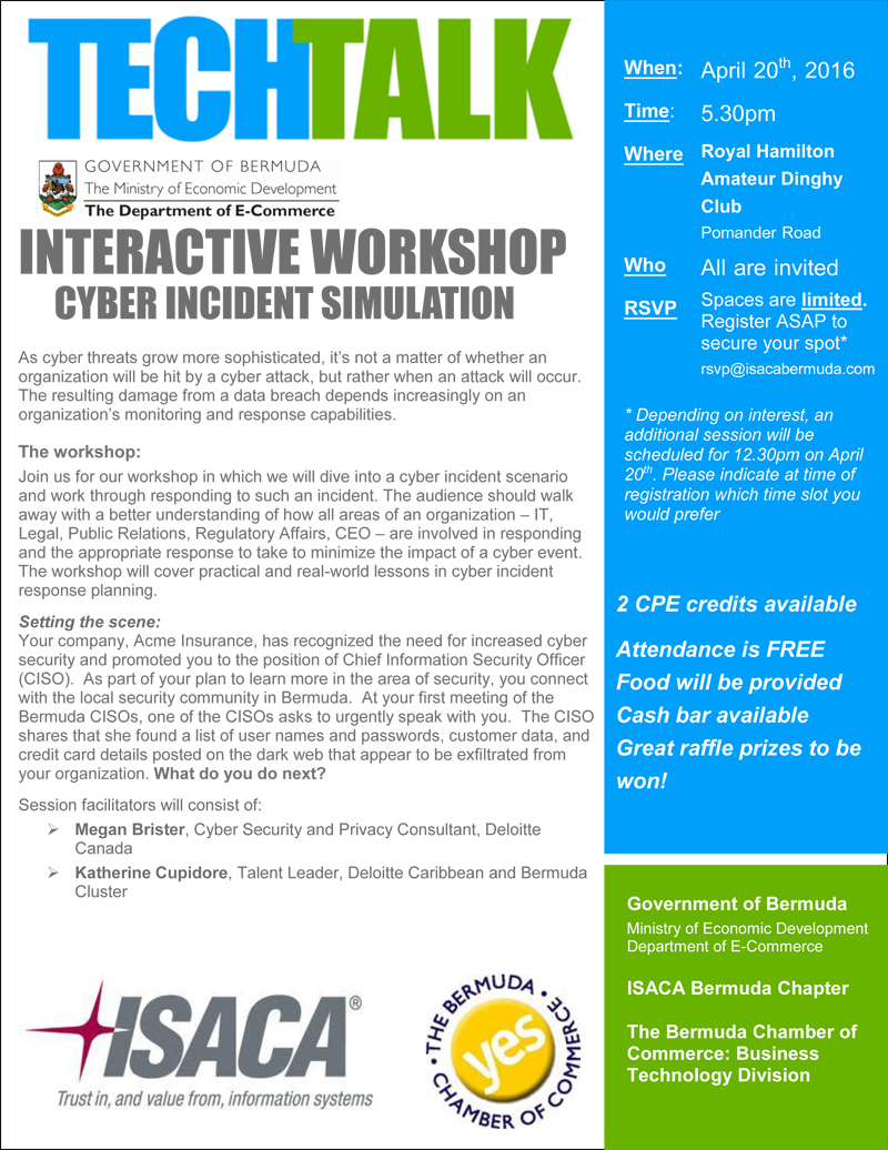 Cyber simulation workshop Apr 20 2016