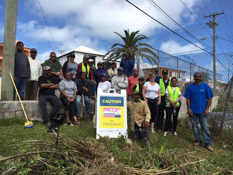 Horseshoe Road cleaned up Bermuda March 6 2016 (1)