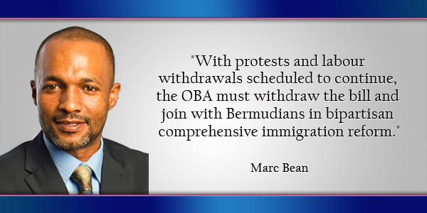 Marc Bean Bermuda March 15 2016