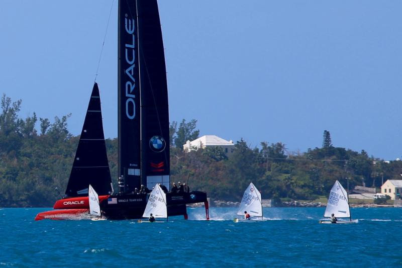 Oracle Team USA out training