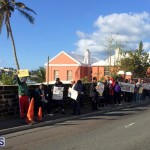 Protesters On East Broadway Bermuda Mar 1 2016 (36)