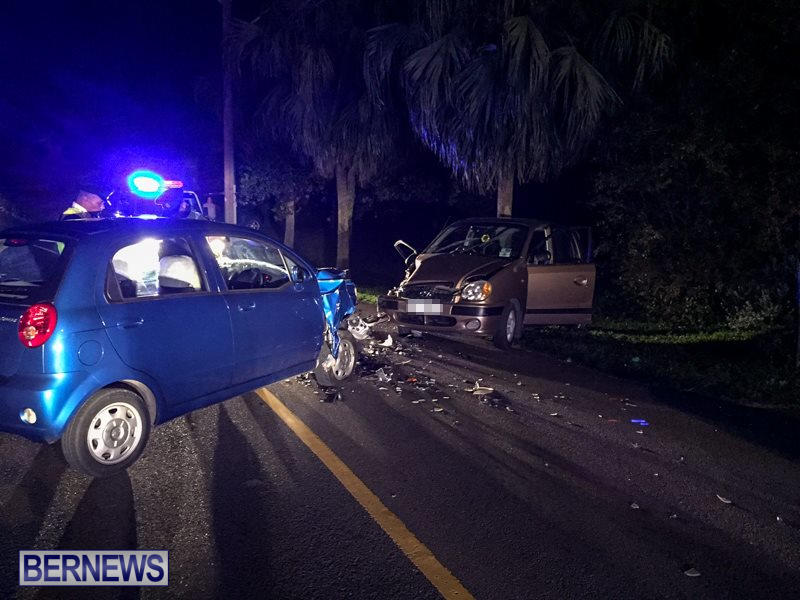 Two Car Accident Bermuda, March 19 2016-1