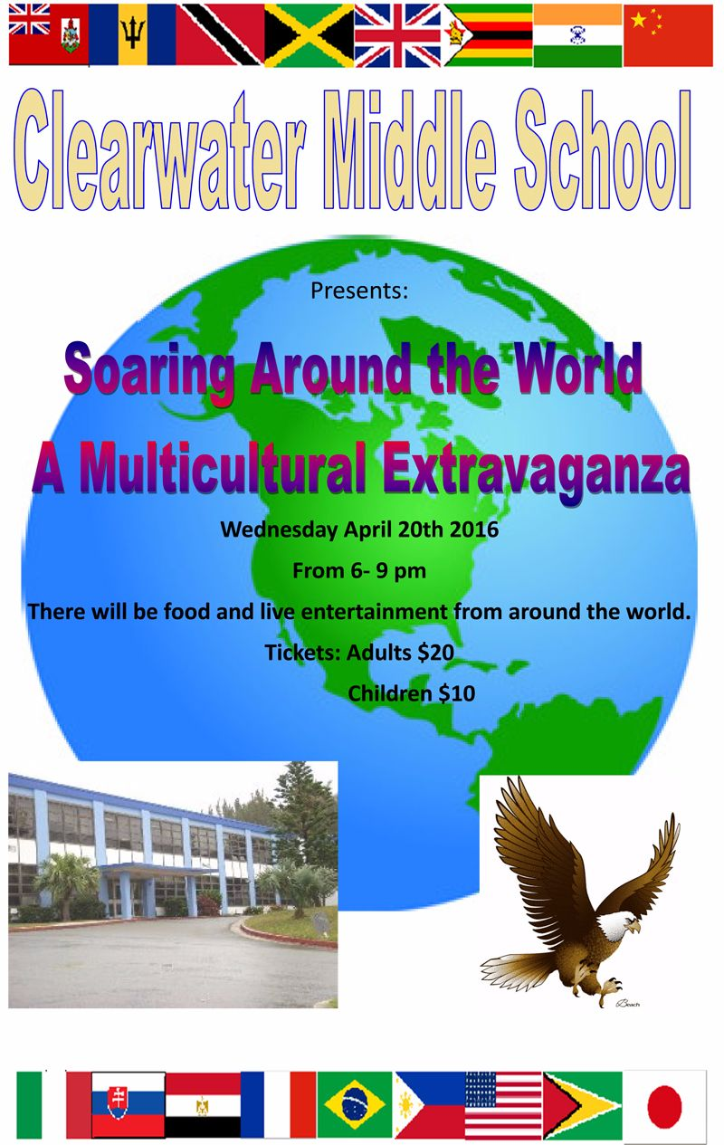 Clearwater Middle School's-MULTICULTURAL EXTRAVAGANZA Bermuda April 12 2016