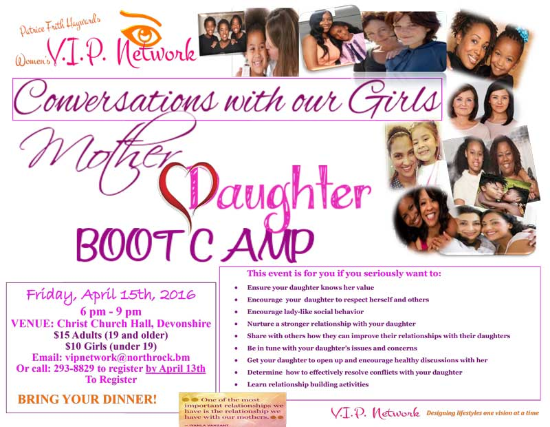 Mother Daughter Boot Camp flyer - Apr 2016