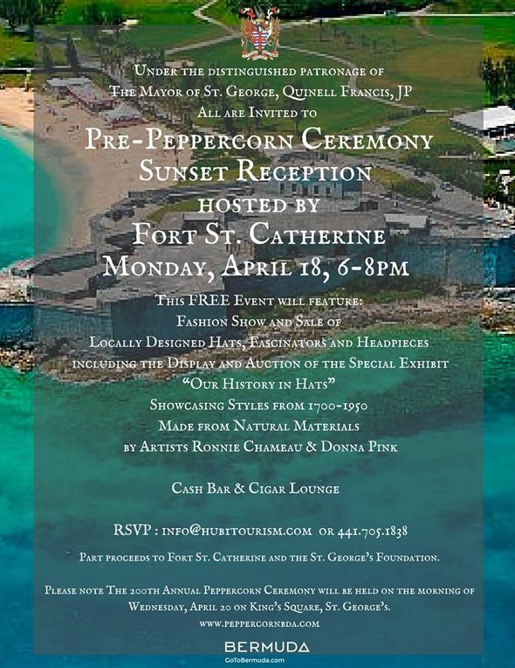 Pre-Peppercorn Ceremony Sunset Reception