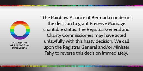 Rainbow Alliance of Bermuda April 10 2016