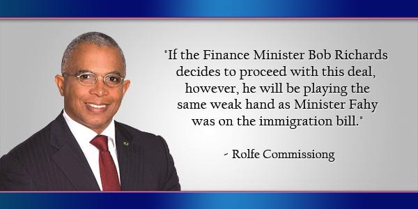 Rolfe Commissiong Bermuda April 18 2016
