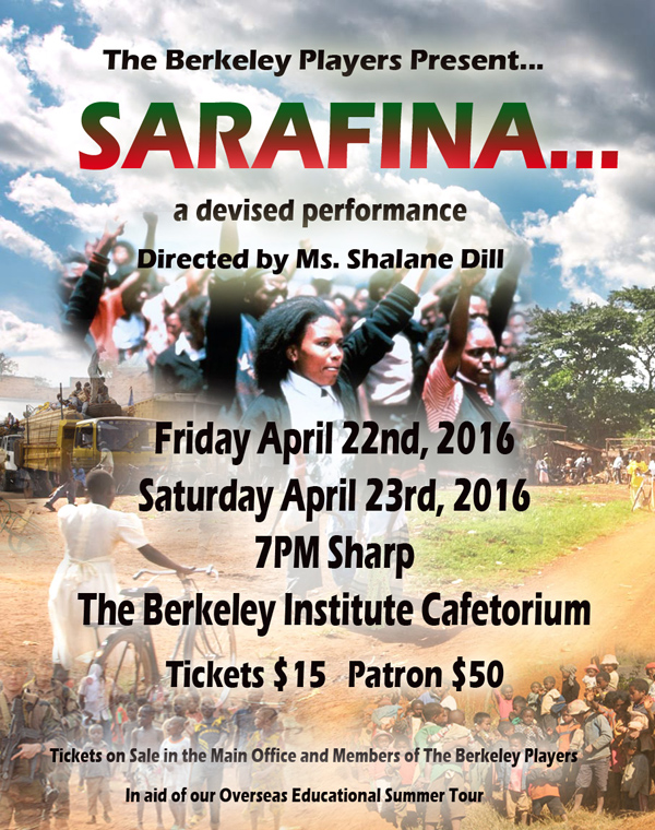 Sarafina Bermuda March 4 2016