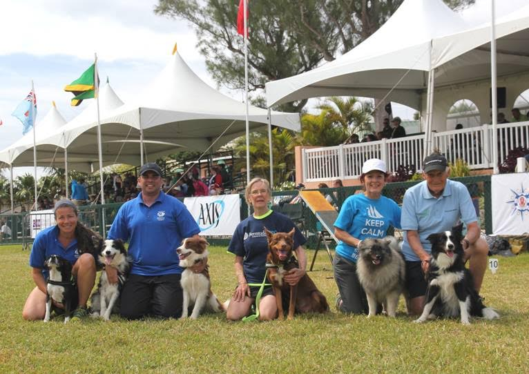 Top winners with their dogs Bermuda APril 18 2016