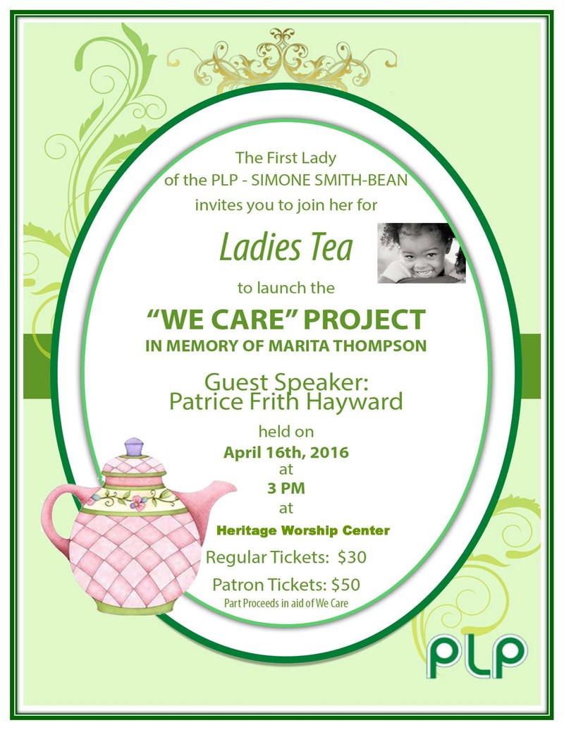 """Ladies Tea Party To Launch """"We Care"""" Project - Bernews"""