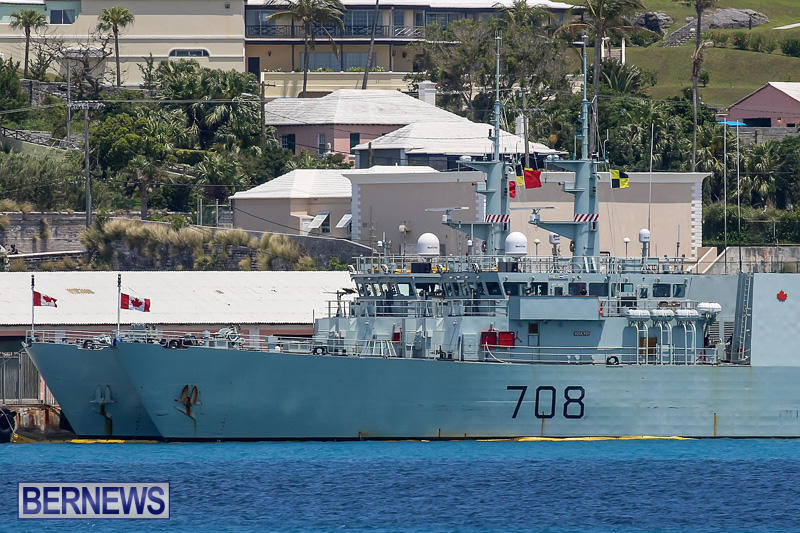 Canadian Navy HMCS Kingston 700 HMCS Moncton 708 Bermuda, May 16 2016 (3)