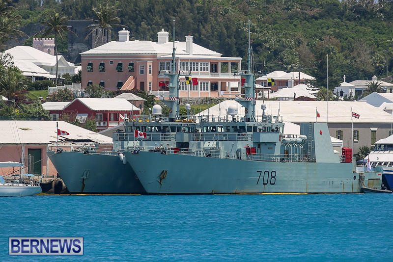 Canadian Navy HMCS Kingston 700 HMCS Moncton 708 Bermuda, May 16 2016 (6)