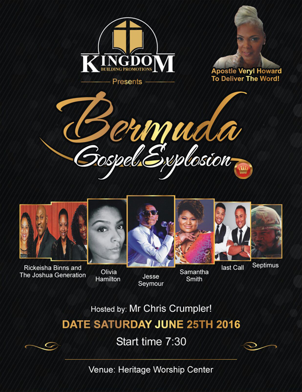 Gospel Concert Bermuda May 15 2016