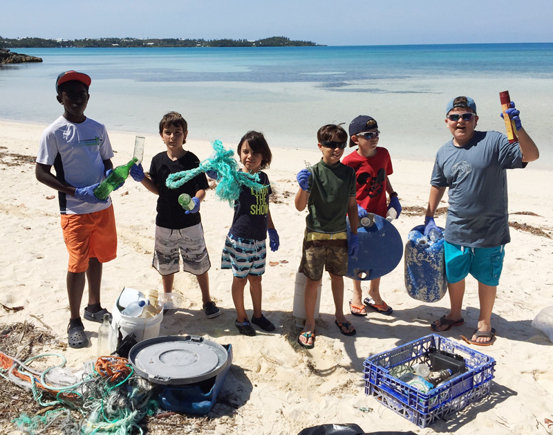 Homeschoolers Cleanup Bermuda May 27 2016 (1)