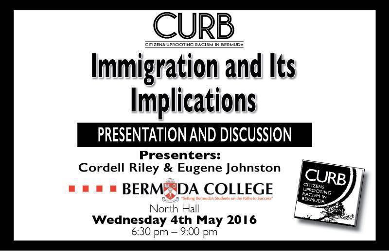 Immigration and Its Implications by CURB May 3 2016