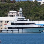 Kisses super yacht At Ordnance Island Bermuda May 2 2016 3