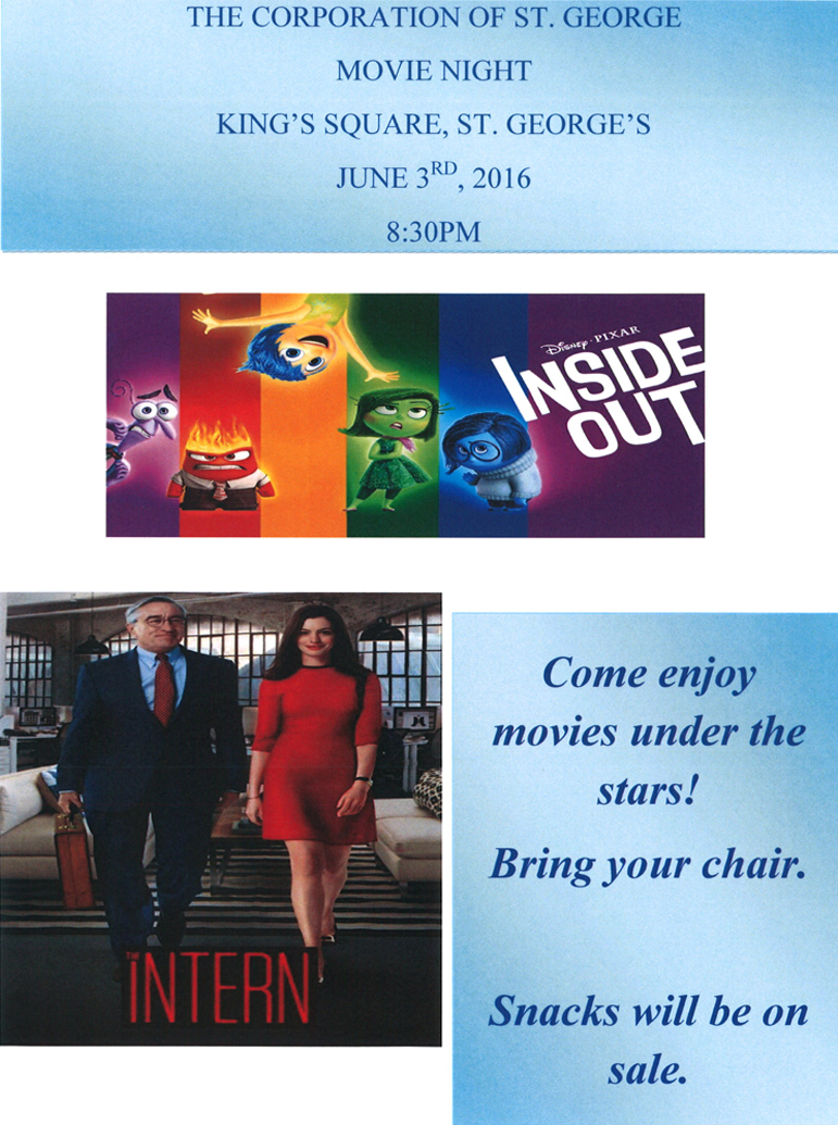 Movie Night Flyer - June 3rd Bermuda