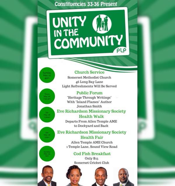 PLP Unity in the Community Bermuda May 16 2016
