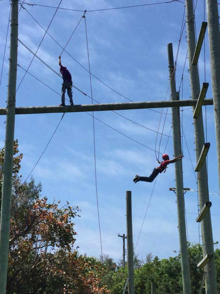 Scouts on Outwardbound course Bermuda May 17 2016