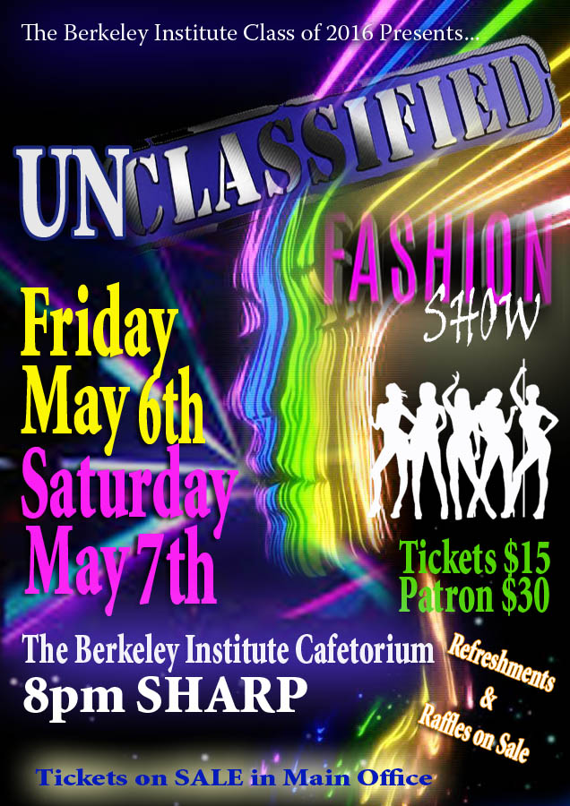 The Berkeley Institute Senior Fashion Show Bermuda May 4 2016