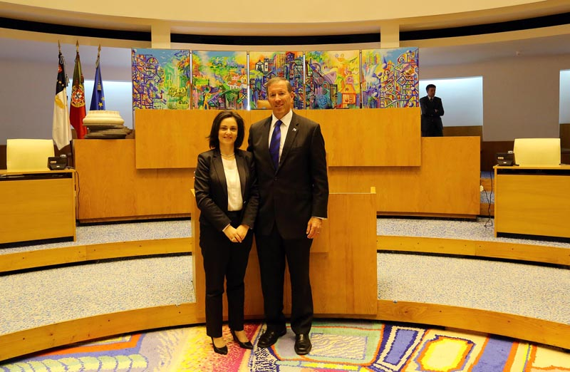 The President of the Legislative Assembly of the Azores Bermuda May 5 2016