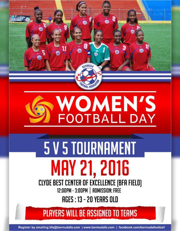 Women's Football Day Bermuda May 13 2016