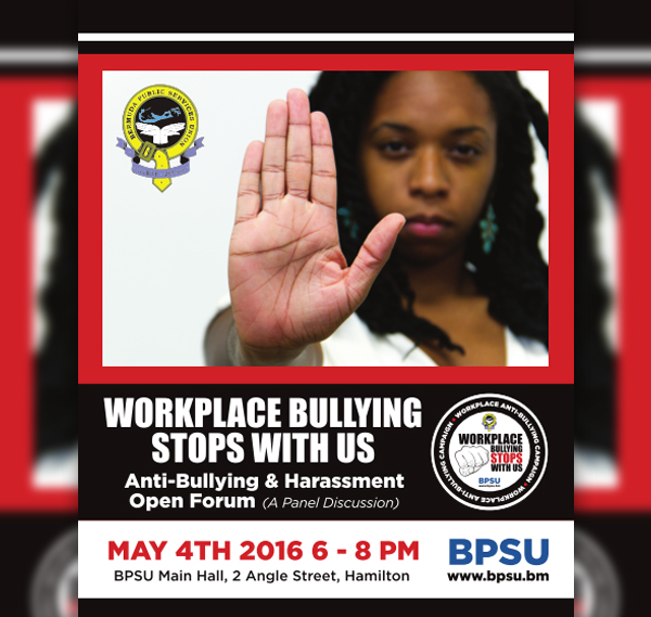 Workplace Anti-Bullying and Harassment campaign Bermuda May 1 2016