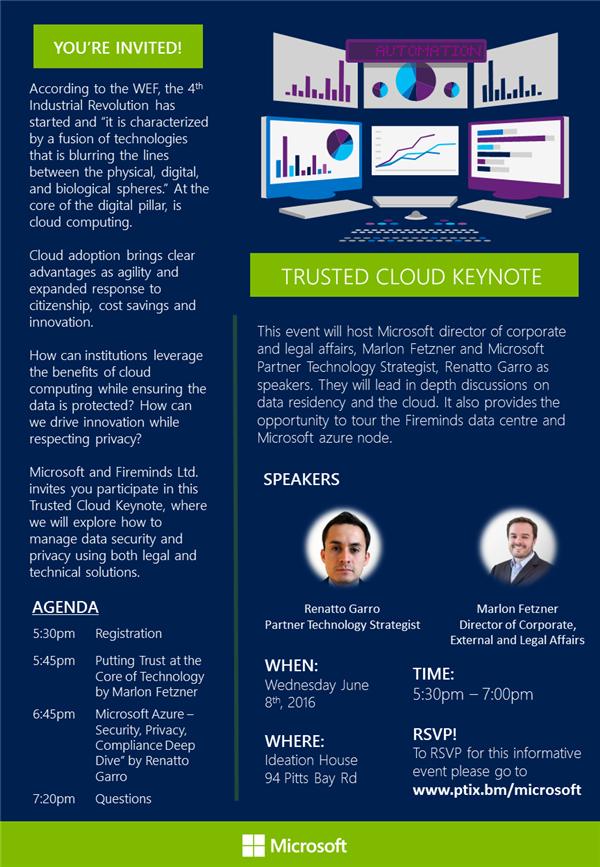 microsoft invite Bermuda May 30 2016