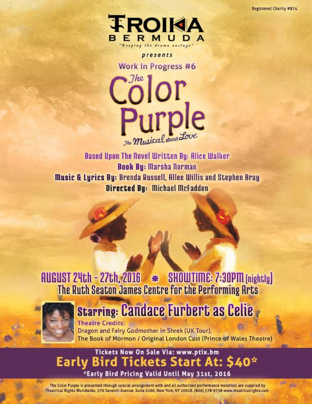 the color purple musical bermuda May 31 2016