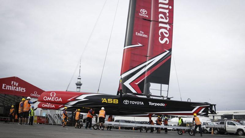 Emirates Team New Zealand catamaran June 21
