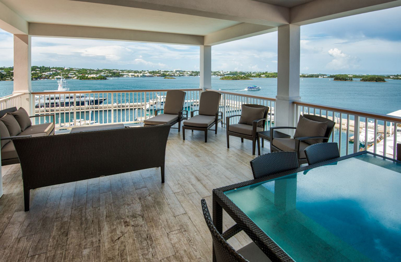 Hamilton Princess Bermuda June 2016 Gold Lounge Suite Terrace