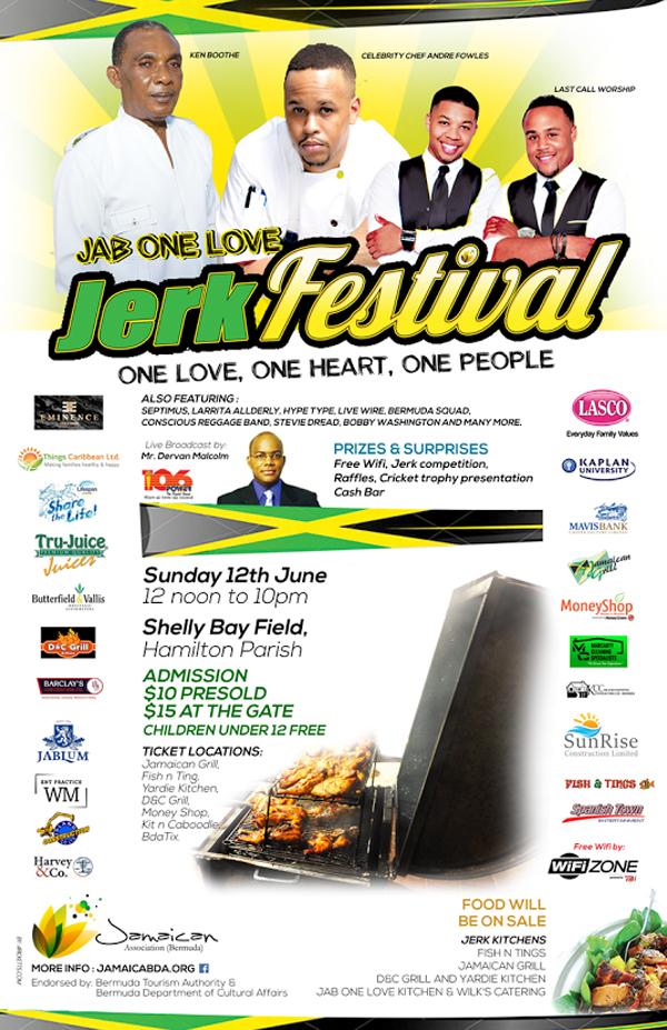 JAB One Love Bermuda June 8 2016