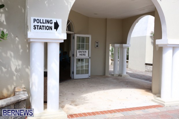 Pennos Wharf Polling Station Bermuda June 23 2016