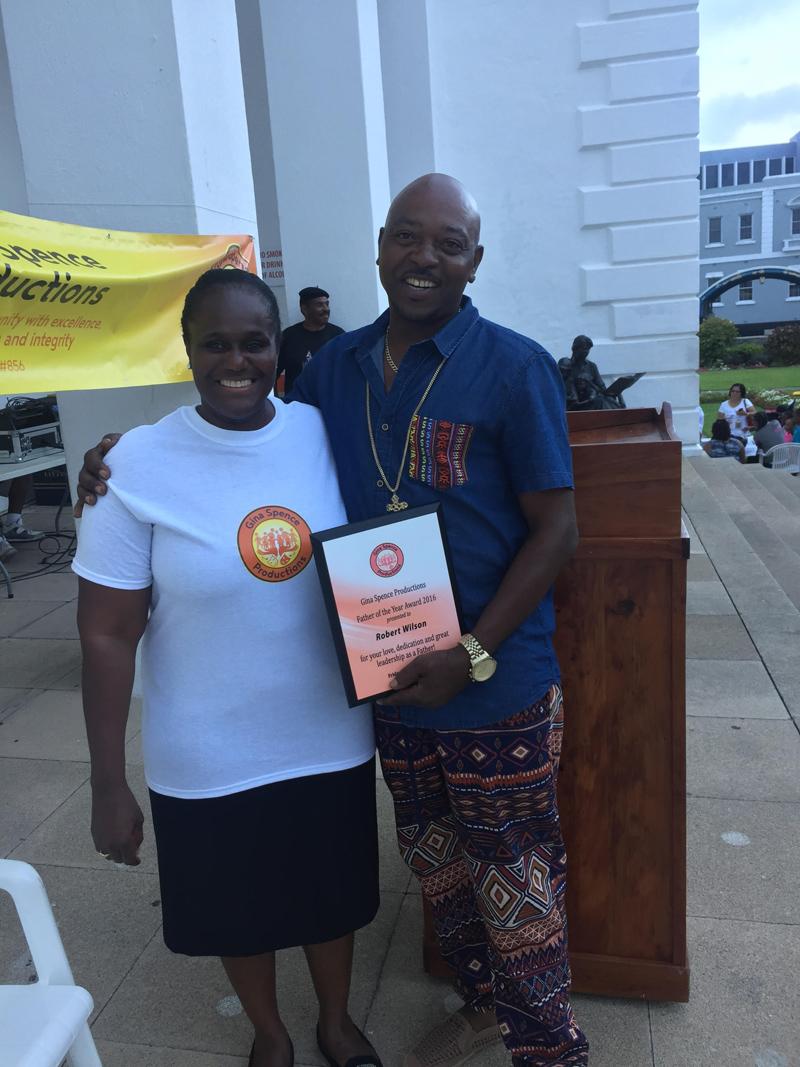 Robert Wilson and Dr Gina Spence Bermuda June 21 2016
