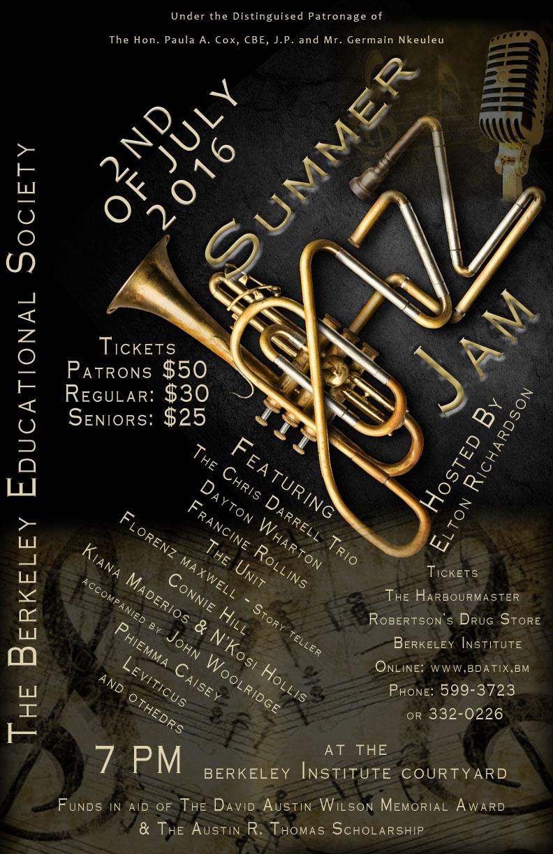 Summer Jazz Jam 3 - July 2 2016 - JAZZ POSTER BRASS6