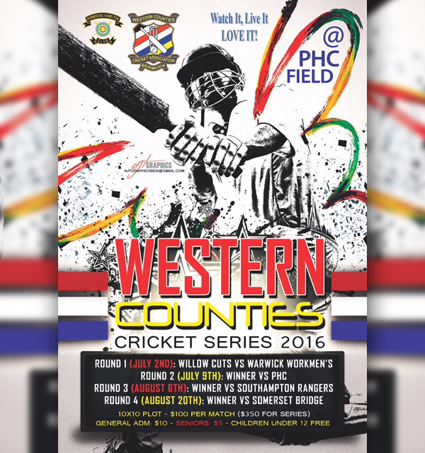 Western Counties Cricket Series Bermuda June 8 2016