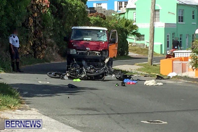 Bike Van Collision Bermuda, July 26 2016-1