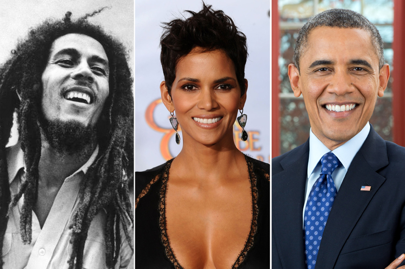 Bob Marley, Halle Berry and Presidenet Obama