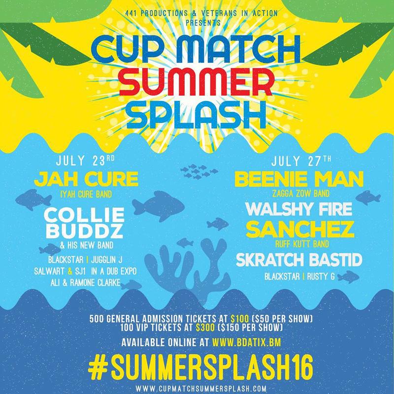 Cupmatch Summersplash Bermuda July 5 2016