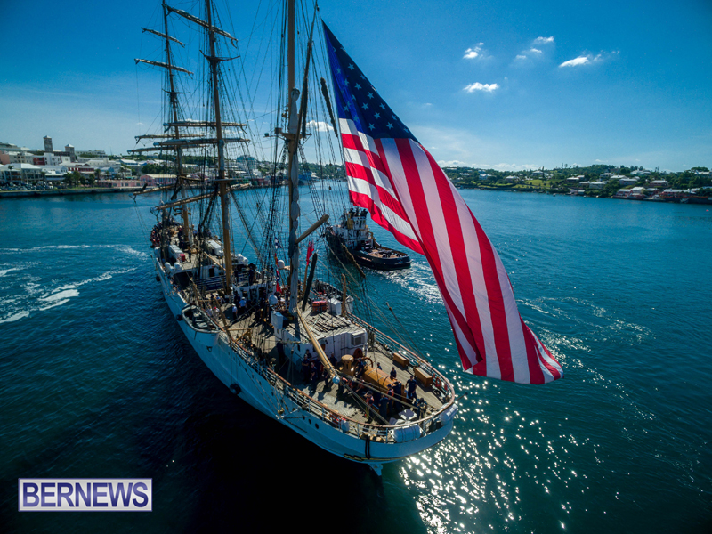 Eagle Enters Hamilton Bermuda July 13 2016 (4)