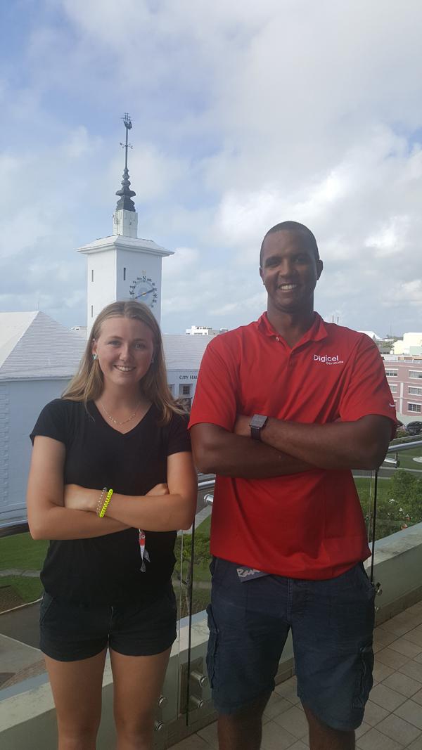 Erica Hawley & Rockal Evans Bermuda July 14 2016