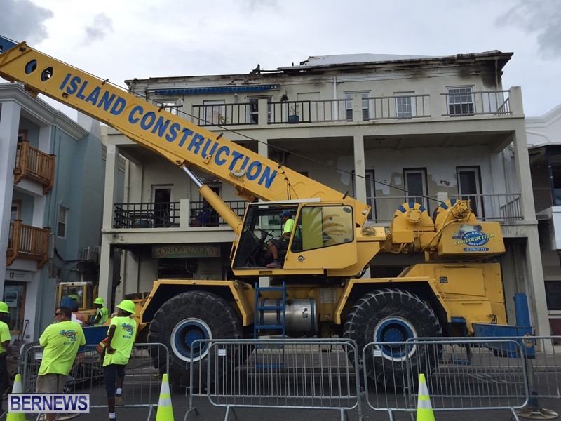 Fire demolition work July 22 (2)