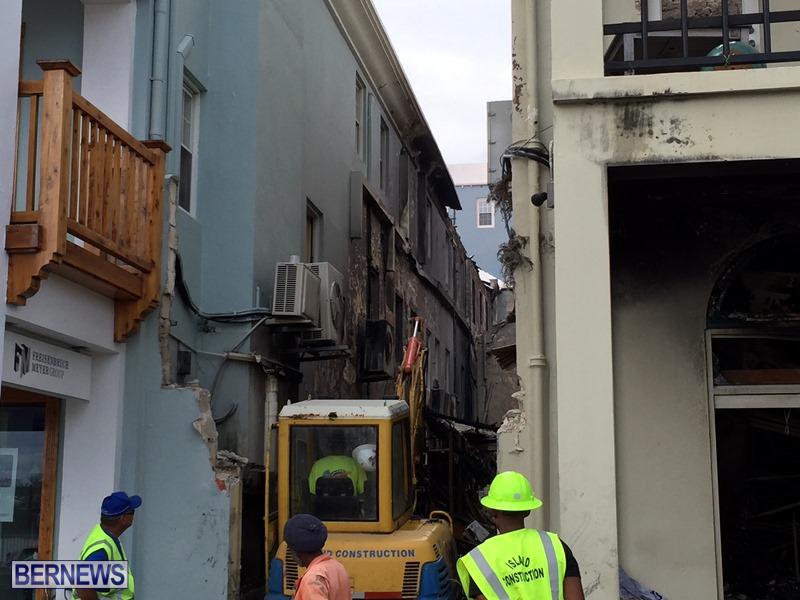 Fire demolition work July 22 (7)