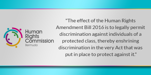 HRC Human Rights Commission Bermuda TC July 12 2016