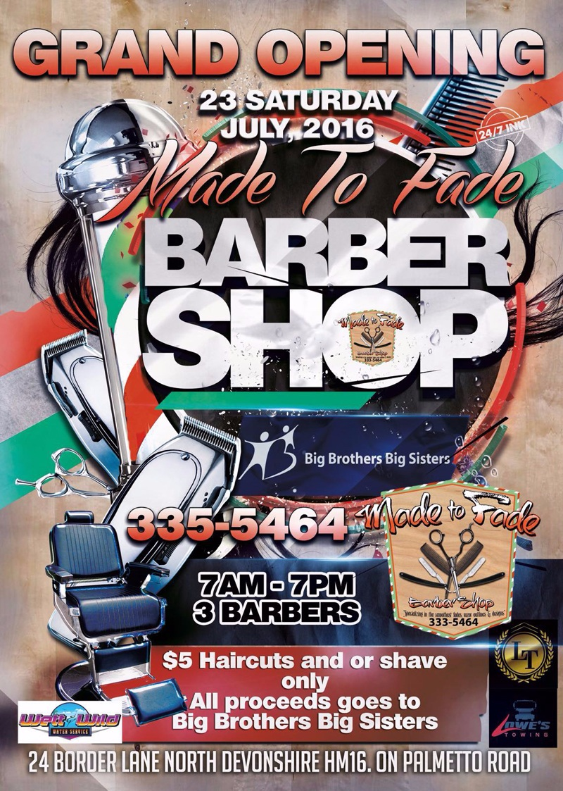 Made To Fade Barbershop Bermuda July 2016