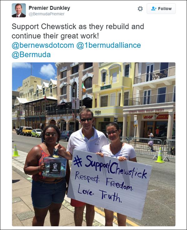 Premier Chewstick Bermuda July 25 2016