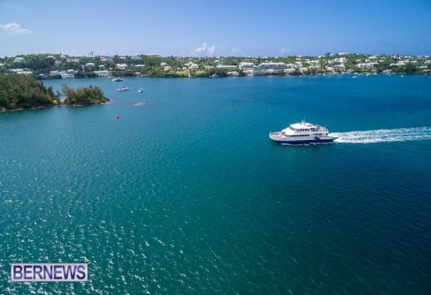 bermuda ferry generic aerial 32432