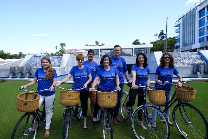 Bacardi Employees On Bicycles Bermuda August 9 2016